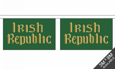 IRISH REPUBLIC  BUNTING - 3 METRES 10 FLAGS